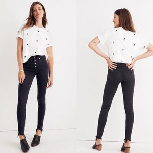 """Madewell 9"""" High-Rise Skinny Jeans Button Edition"""
